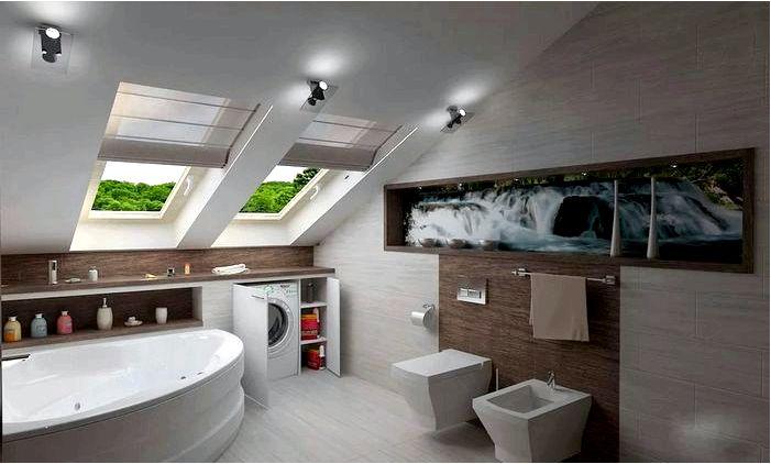 Ванная на чердаке - откройте для себя интересные идеи по обустройству ванной на чердаке!