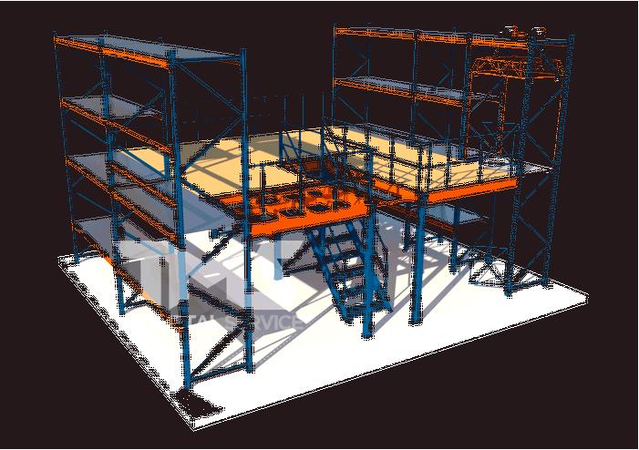 Раздвижные складские стеллажи