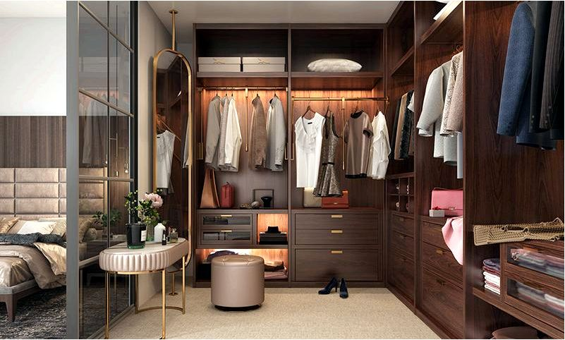 Руководство по гардеробу для типов спален дизайн кафе