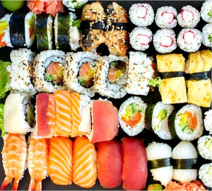Суши - вкусная еда из Японии
